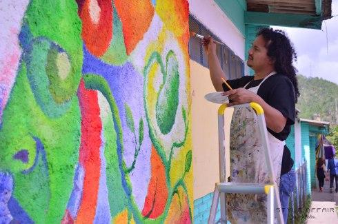 Pintura en paredes en vivo