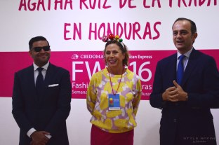 Alejandro Medrano (Fashion Week Honduras Director), Agatha and Miguel Albero (Spanish Embassador ar Honduras)