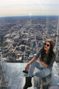 Up on Sears tower